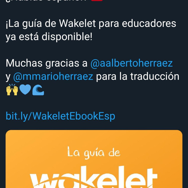 The Wakelet Educator Book was translated by the eTwinz