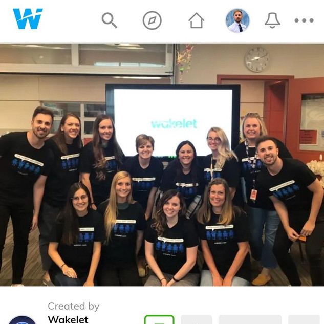 A picture of the eTwinz in one of their trainings was the cover picture of the Wakelet community newsletter for September.