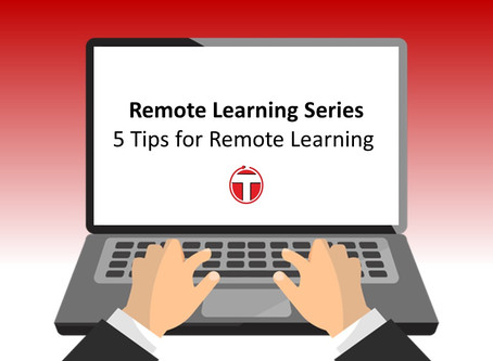 Remote Learning series: 5 tips