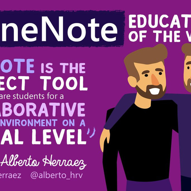 The eTwinz were the OneNote Educators of the Week