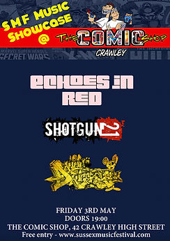 Comic shop showcase gig poster.jpeg