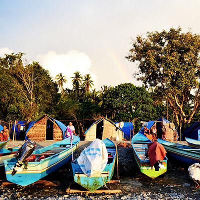 Indonesian fishermen community