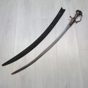 Late 18th Century Silver Koftgari Tulwar