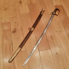 C1800 Unique Pipeback Bavarian Sword £1450