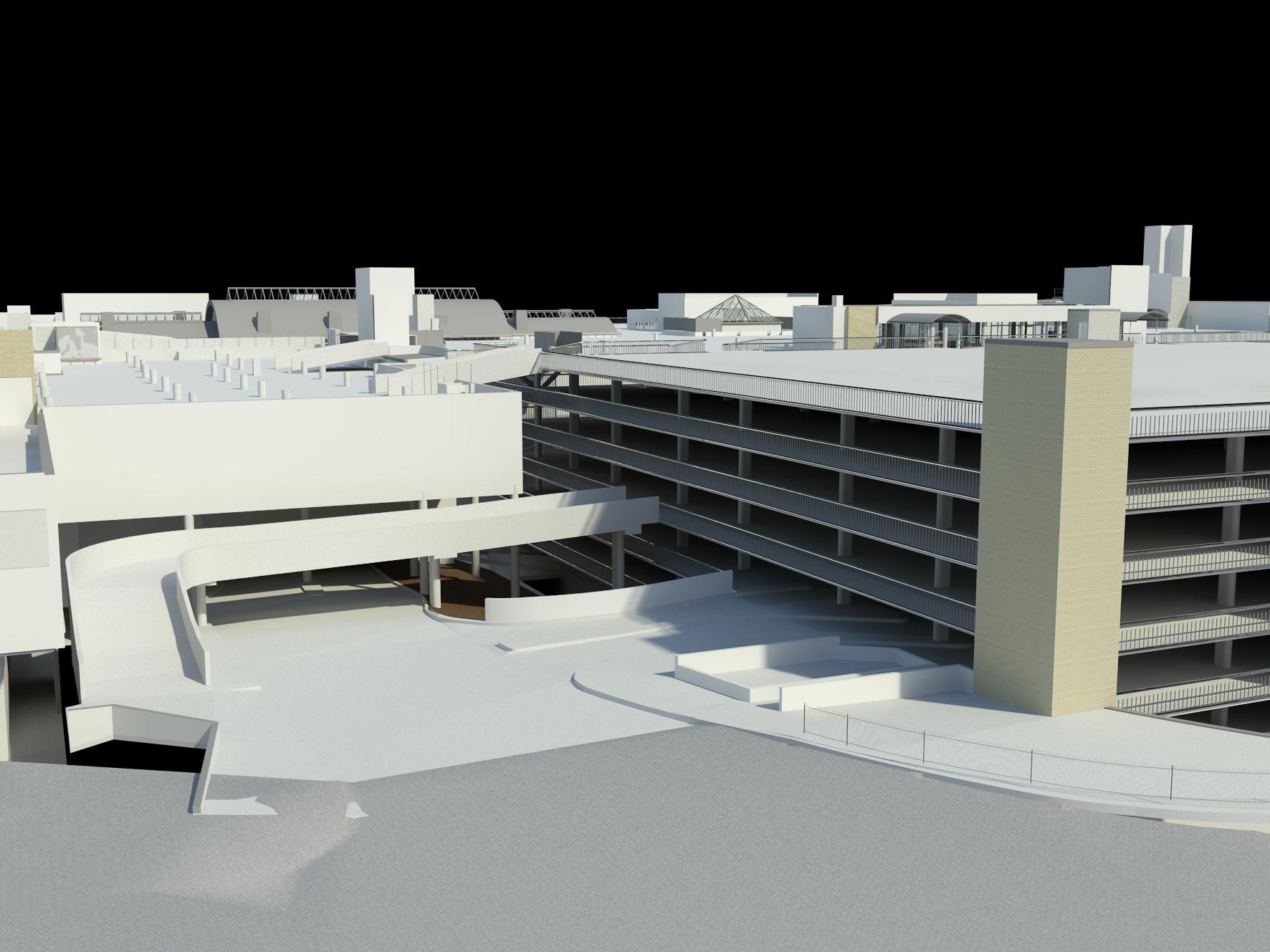 Castle Towers Mall - Revit Model