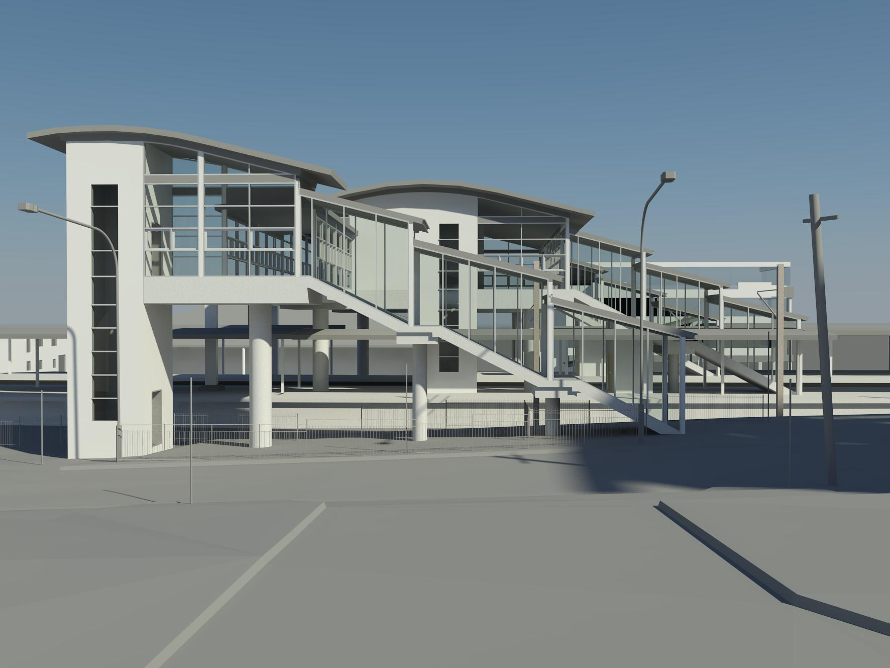TRAIN STATION - Laser scan to Revit