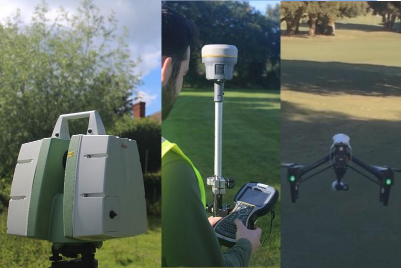 Laser scanning - GPS - Drone