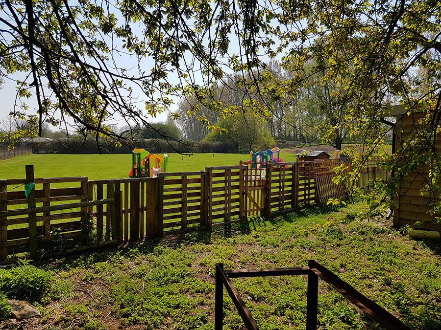 Sensory garden for dogs in Oakington Cambridgeshire