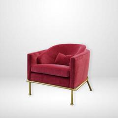 Red velvet arm chair.jpeg