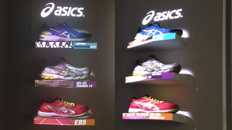 Ascics - In-store Live Feed Projection Mapping