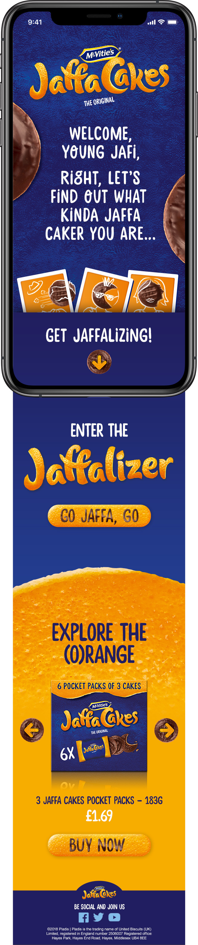 The 'Jaffalizer' landing page