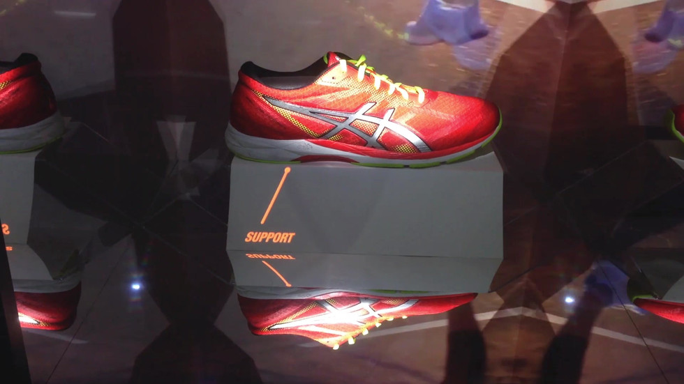 Asics - In-store 'Mirror Box' projection mapping