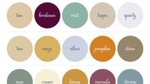 Fall 2017 Wedding Colors