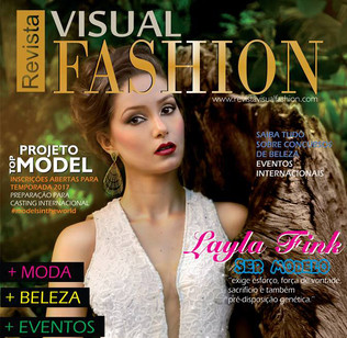 Layla Fink, a modelo new face é capa de revista
