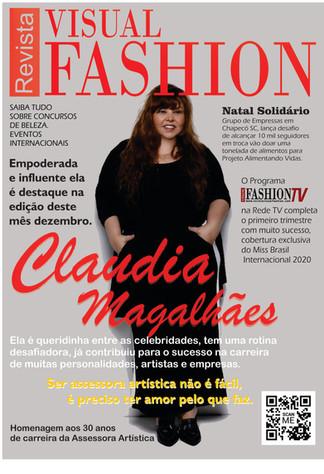Claudia Magalhães, assessora artística é capa não autorizada da nossa revista.