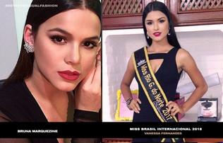 Miss Brasil Internacional 2018, é confundida com famosos.