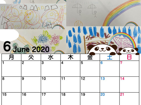 カレンダーを作るんだー 2020.6