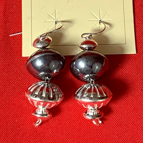 Ruby Black and White Fancy Dangle