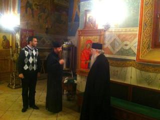 Встреча со старцем схимонахом Никодимом (монастырь Каракалл, Афон)