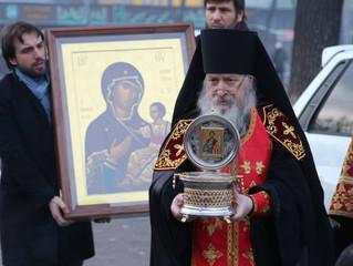 Принесение в Бишкекскую и Кыргызстанскую Епархию мощей Святого Благоверного князя Олега Брянского и