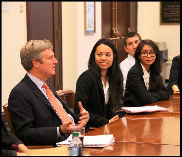 John Osborne, CEO of BBDO New York, mentoring Gabelli School of Business students, November 2013