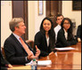 "John Osborn, talks with Fordham students on the ""Soul of Selling"""