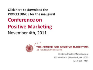 Inaugural Conference for Positive Marketing Proceedings