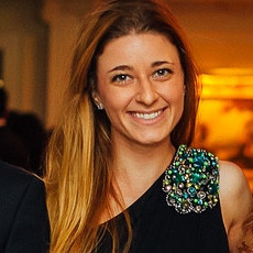 Caroline Dahlgren as the Assistant Manager of Global Consumer Insights at Tiffany's and former Center Fellow, GBS alumna