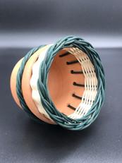 Terracotta and Rattan pot