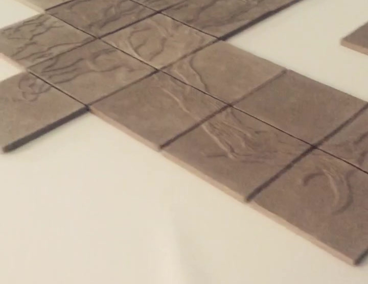 Tiles ready to dry