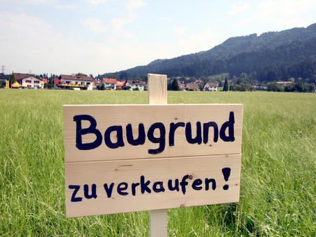 """Neues aus dem Gemeinderat, mit dem bekannten Thema """"Bauland""""."""