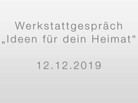 """Werkstattgespräch """"Ideen für deine Heimat"""""""