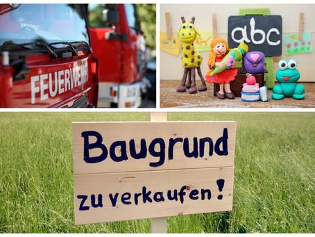 Aktuelles aus dem Gemeinderat: Feuerwehrauto, Mittelschule und Baugebiete