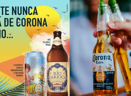 Cerveja Rio Carioca usa repercussão do coronavírus para alfinetar marca rival