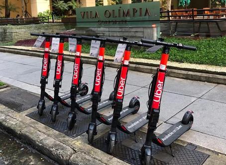 Uber inicia serviço de patinete em São Paulo