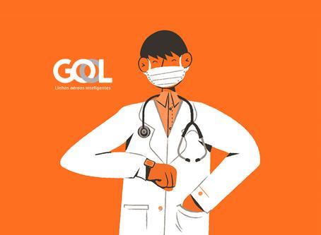 Gol disponibiliza passagens gratuitas para profissionais da saúde