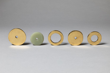 Richard Pousette-Dart, 'Four brass rings and one jade ring', n.d. (pre-1966)