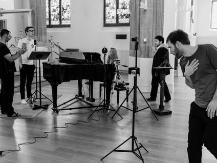 SHINDIG arts collective rehearsal in St Paul's Church, Cambridge