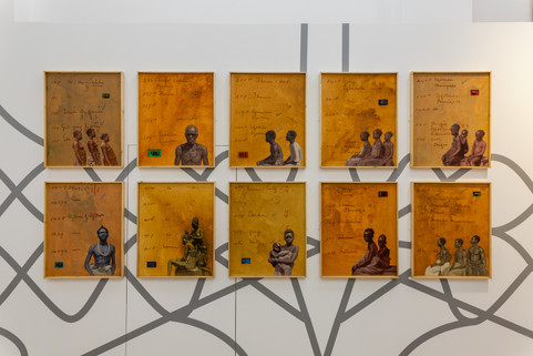 Works by Kelani Abass in the exhibition [Re:]Entanglements: Colonial Collections in Decolonial Times, 2021