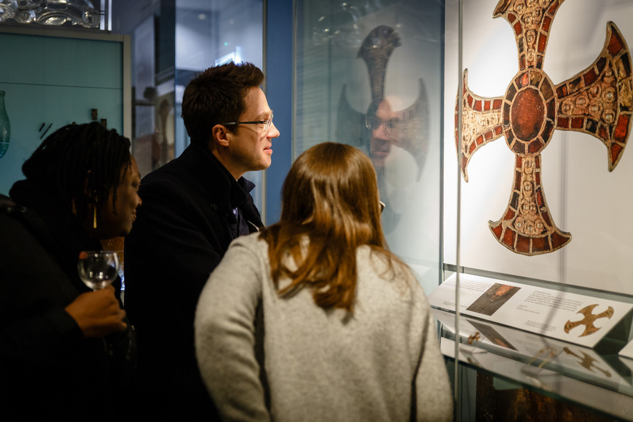 Launch of new Trumpington Cross display © Museum of Archaeology and Anthropology, University of Cambridge, 2018