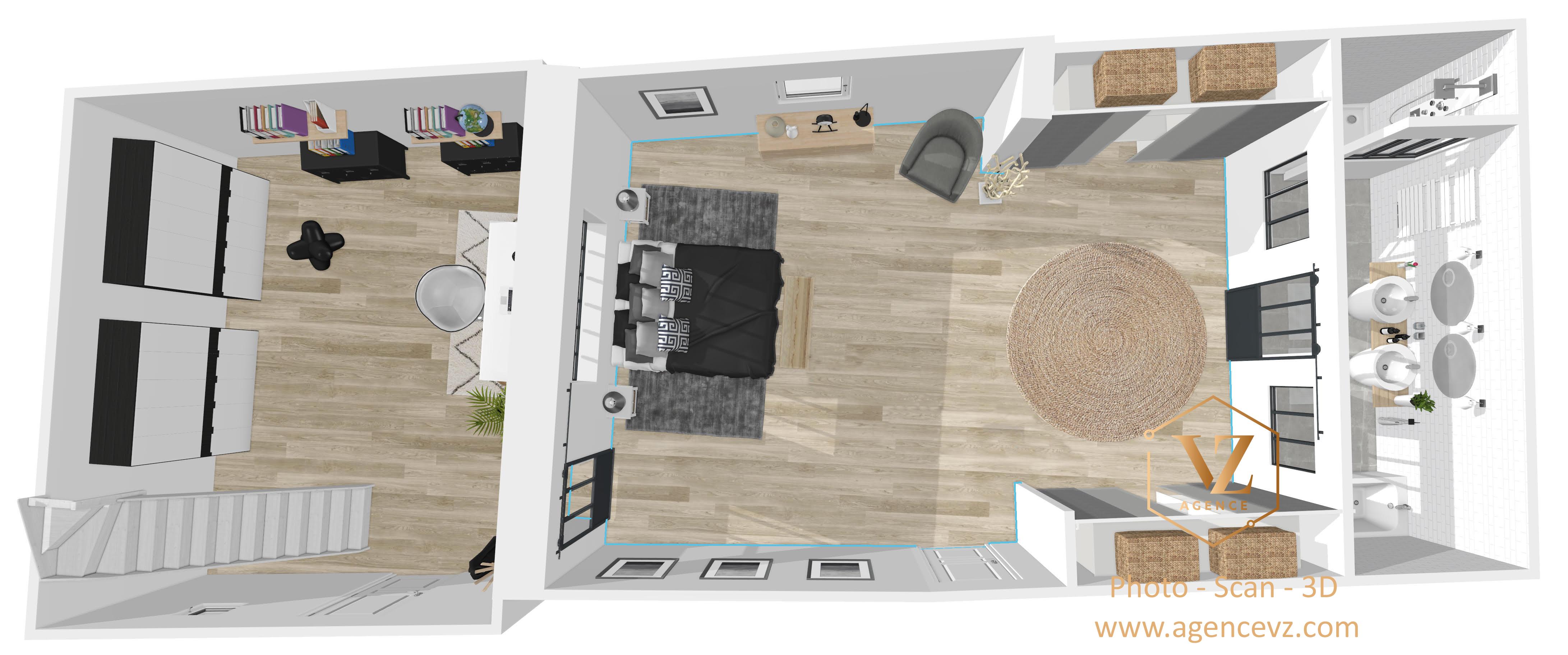 Vue 3D promoteur immobilier
