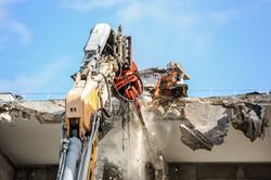 Reportage photo chantier de démolition
