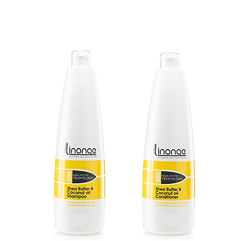 Linange Shea Butter Coconut Oil Shampoo Conditioner 1,000 ml 33.8 oz EACH
