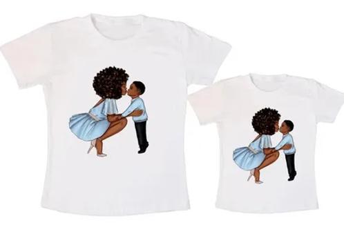 Kit T-shirt Camiseta Tal Mãe E Tal Filho ou Filha Afro