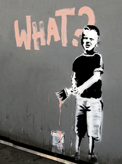Banksy What 3D Print 30X40cm