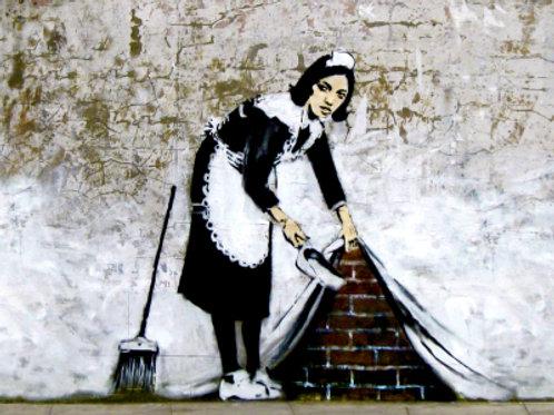 Banksy Camden Maid 3D Print 30X40cm