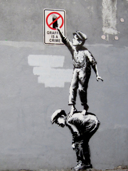 Banksy Graffiti Crew 3D Print 30X40cm