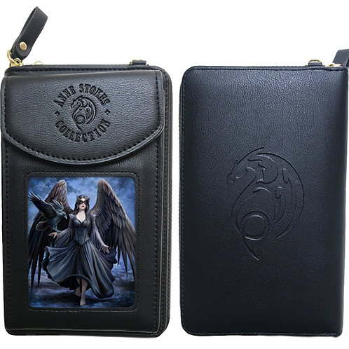 Anne Stokes 'Raven' Purse + Phone Holder - 3D Lenticular