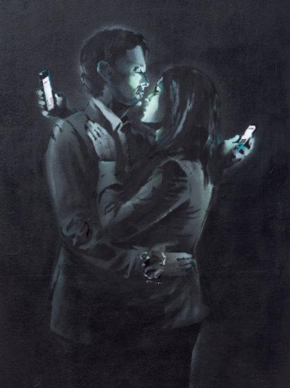 Banksy Mobile Phone Lovers 3D Print 30X40cm