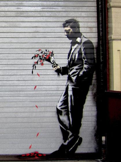 Banksy Hustler 3D Print 30X40cm